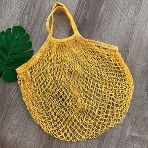 Handbags - YELLOW FARMERS MARKET NET TOTE BAG